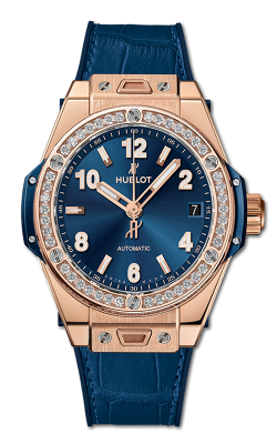 HUBLOT ONE CLICK KING GOLD BLUE DIAMONDS 465.OX.7180.LR.1204 product image