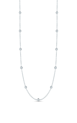 18KT GOLD 21 STATION DIAMOND NECKLACE  000163AW2421 product image