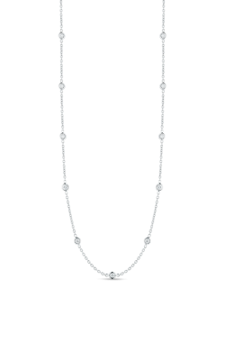 18KT GOLD 19 STATION LONG DIAMOND NECKLACE  000164AW2219 product image