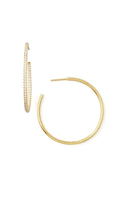 18KT GOLD XL GRADUATED HOOP EARRINGS 674440B-CONFIG product image