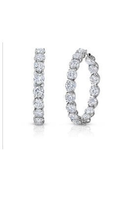 18KT GOLD XL PERFECT DIAMOND HOOP EARRINGS 000855AWERX0 product image