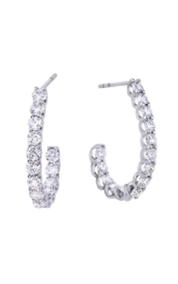 18KT GOLD MEDIUM PERFECT DIAMOND 'J' HOOP EARRINGS 000958AWERX0 product image