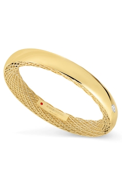 18KT GOLD SLIM BANGLE WITH DIAMONDS 7771O93A-CONFIG product image