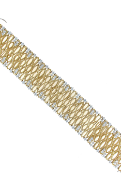 18KT GOLD LARGE BRACELET WITH DIAMONDS 449443AJLBX0 product image