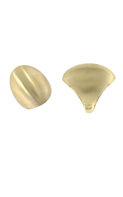 18KT GOLD OVAL DOME RING WITH SATIN FINISH 473436AY65SA product image