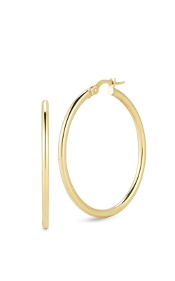 18KT GOLD MEDIUM ROUND HOOP EARRINGS 556024A-CONFIG product image