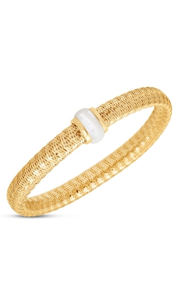 18KT GOLD FLEXIBLE BANGLE WITH MOTHER OF PEARL 5573970-config product image