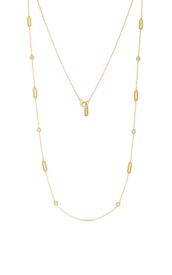 18KT GOLD NECKLACE WITH ALTERNATING DIAMOND STATIONS 7771248AY36X product image