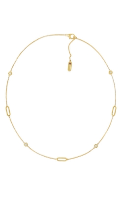 18KT GOLD NECKLACE WITH ALTERNATING DIAMOND STATIONS 7771249AY18X product image