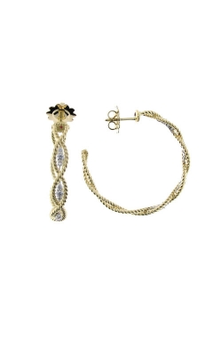 18KT NEW BAROCCO LRG BRAIDED DIA EARRING 7771268B-CONFIG product image