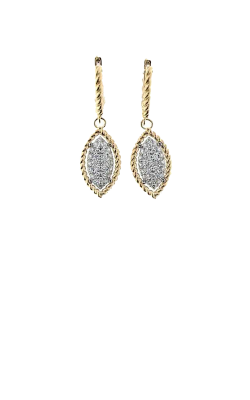 18KT YELLOW AND WHITE GOLD MARQUIS DROP EARRINGS WITH DIAMONDS 7771328B-CONFIG product image