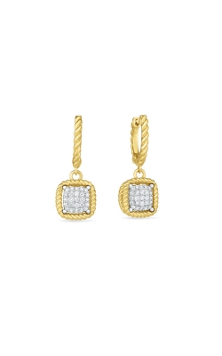 18KT NEW BAROCCO SQUARE DIAMOND DROP EARRING 7771329B-CONFIG product image