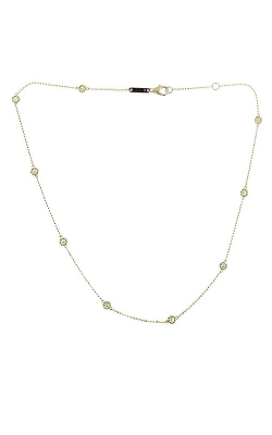 18KT YELLOW GOLD NECKLACE WITH 9 DIAMOND STATIONS 7771333AYCHX product image