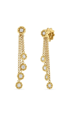 18KT GOLD DROP EARRINGS WITH DIAMOND STATIONS 7771333AYERX product image