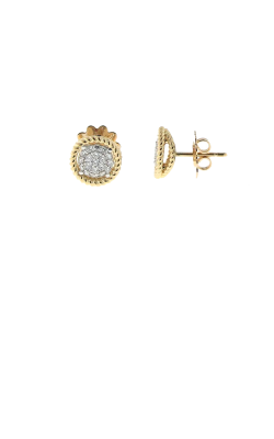 18KT YELLOW AND WHITE GOLD EARRINGS 7771363AJERX product image