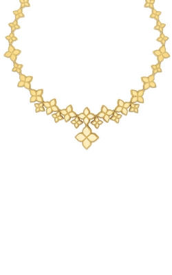 18KT GOLD LINK COLLAR WITH DROP FLOWER PENDANT 7771376AYCH0 product image