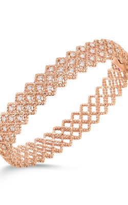 18KT GOLD 2 ROW DIAMOND BANGLE 7771650D-CONFIG product image