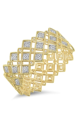 18KT GOLD 3 ROW DIAMOND PATTERN BANGLE 7771656AJBAX product image