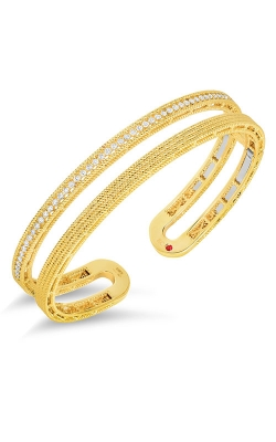 18KT GOLD DOUBLE SYMPHONY BAROCCO BANGLE WITH DIAMONDS 7771680A-CONFIG product image