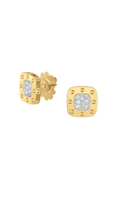 18KT GOLD STUD EARRINGS WITH DIAMONDS 777922AJERX0 product image