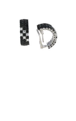 18KT GOLD BLACK SAPPHIRE AND WHITE DIAMOND EARRINGS 888017AWERBD product image