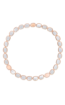18KT GOLD NECKLACE WITH DIAMONDS AND MOTHER OF PEARL 8881935AX18M product image