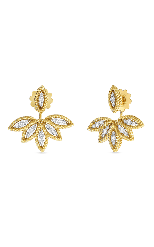 18KT GOLD DIAMOND STUD EARRINGS WITH FAN JACKET  8882245A-CONFIG product image