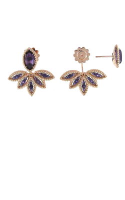 18KT ROSE GOLD FAN EARRINGS WITH AMETHYST 8882247AHERA product image