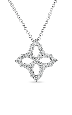 18KT DIAMOND OUTLINE MEDIUM FLOWER PENDANT 8882349AW18X product image