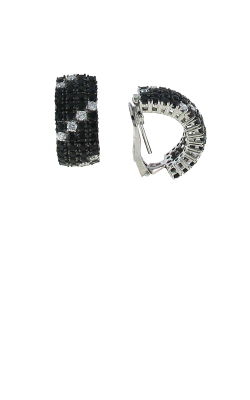 18KT GOLD EARRINGS WITH BLACK SAPPHIRES AND WHITE DIAMONDS 888958ERBD product image