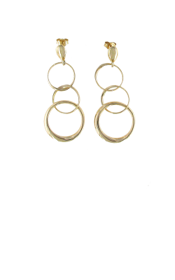 18KT GOLD 3 CIRCLE EARRINGS 915835AYER00 product image