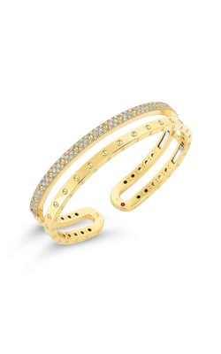 18KT GOLD DOUBLE SYMPHONY POIS MOI BANGLE WITH DIAMONDS 7771692AYBAX product image